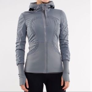 Lululemon Grey Blue Reversible Dance studio jacket